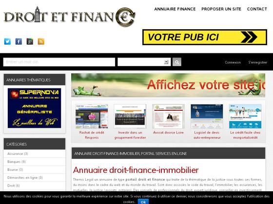 annuaire site d'avocat et métiers de la finance